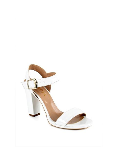 Sapin Kalın Topuklu Ayakkabı Beyaz